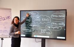 Simone Fürnschuss gab ihr journalistisches Know-how weiter. (c) aha
